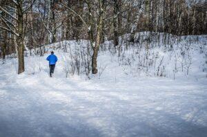 zima, bieganie, sport
